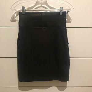 Pleather high waisted skirt